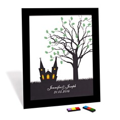 """Our Wedding Tree"" Signature Framed Canvas"
