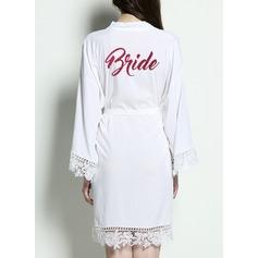 Braut Baumwolle Roben aus Satin und Spitze
