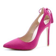 De mujer Terciopelo Tacón stilettos Salón Cerrados con Borla zapatos