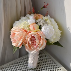 Romantic Round Artificial Silk Bridal Bouquets - (123105299)