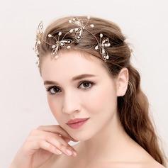 Señoras Elegante Aleación/La perla de faux Diademas