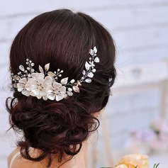 Ladies Classic Rhinestone/Alloy/Imitation Pearls Headbands With Rhinestone/Venetian Pearl (042138708)