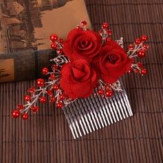 Filles Beau De faux pearl/Tissu Des peignes et barrettes avec Perle Vénitienne (Vendu dans une seule pièce)