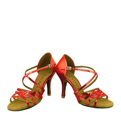 Mulheres Couro Espumante Glitter Latino Sapatos de dança