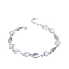 Dames Beau Argent 925 avec Poire Zircon cubique Bracelets elle/Amis