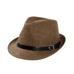 Hommes Style Classique Rotin paille Chapeaux de plage / soleil