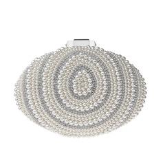 Elegante Perlas de imitación Bolso Claqué