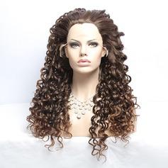 Indisk Curly Syntetisk Capless peruker