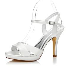 Kvinder Satin Stiletto Hæl sandaler Slingbacks Sko Som Kan Farves