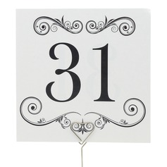 Artistic Pearl Paper Table Number Cards (Set of 10)