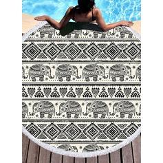 Retro /Cru/l'éléphant rond/attrayant serviette de plage