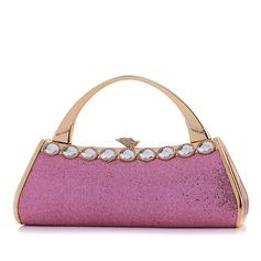 Fashional PU With Acrylic Jewels Wristlets/Fashion Handbags