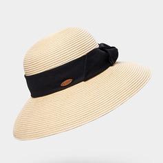 Señoras' Precioso/Exquisito Rafia paja con mariposa de imitación Sombrero de paja/Sombreros Playa / Sol