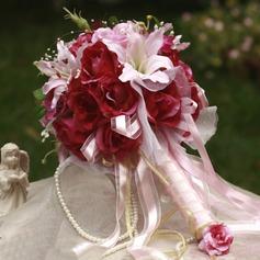 Blühende Rund Satin Brautsträuße