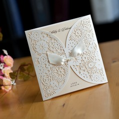 Personalized Card Paper Invitation Cards With Ribbons (Set of 50)