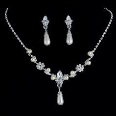 Brillante lega Strass Di faux perla Donna I monili (137136496)