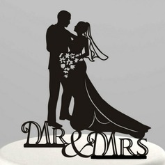 Figurine Mr. & Mrs. Acrylic Wedding Cake Topper/Bridal Shower Cake Topper