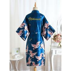 Non-spersonalizowane Poliester Druhna Kwiatowe szaty Brokatowe szaty graficzne