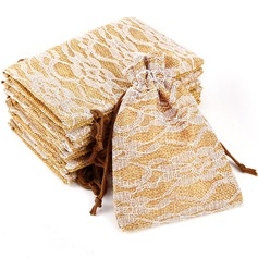 Other Linen Favor Bags With Laces (Set of 10)