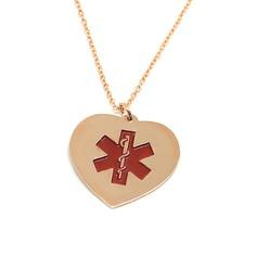 Personlig Damene ' Evig Kjærlighet Gold Plated med Heart Graverte Halskjeder Halskjeder Venner/Brud/Brudepike