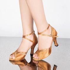 Vrouwen Satijn Sandalen Pumps Latijn met Gesp Dansschoenen