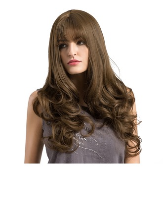 Loose Wavy Synthétique Perruques capless 380g