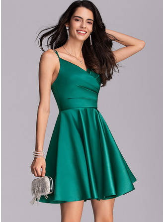 V-Neck V-neck Other Colors Satin Dresses