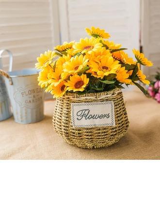 Яркие Свободной формы шелковые цветы Декорации/Свадебный Таблица цветов -
