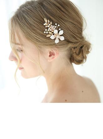 Mooi Legering Haarspelden met Venetiaanse Parel (Verkocht in één stuk)