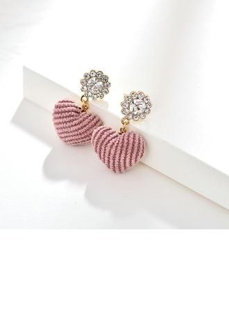 Hermoso Aleación Diamantes de imitación con Rhinestone De mujer Pendientes de la manera
