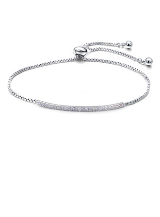 Anti-oxidation Link & Chain Bridal Bracelets Bridesmaid Bracelets With Cubic Zirconia -