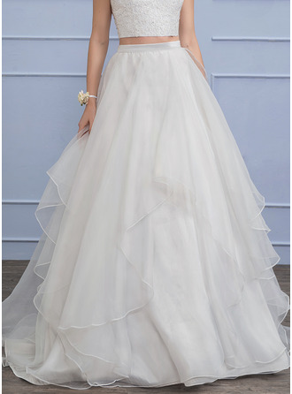 Sweep Train Organza Wedding Dress