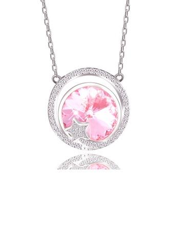 Parit' Tyylikäs Kristalli jossa Pyöreä Kaulakorut Ystävät/Morsiusneito/Kukkastyttö