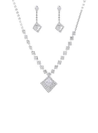 Señoras' Caliente Diamantes de imitación con Redondo Sistemas de la joyería