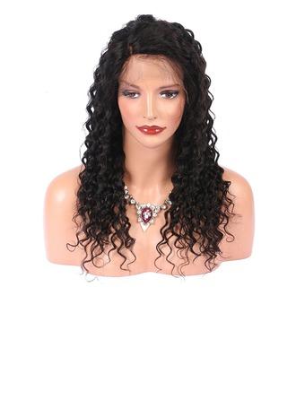 5A Virgen/Remy Rizado Cabello humano Pelucas del frente del cordón 250g