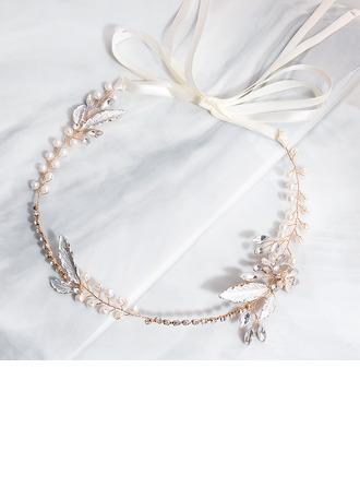Damer Vakkert Legering/PVE Pannebånd med Rhinestone/Venetianske Perle