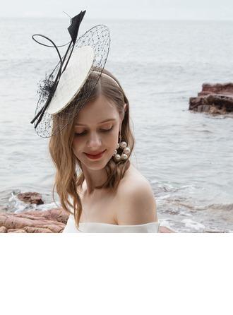 Senhoras Charmosa/Clássico/Elegante/Romântico Cambraia com Pena/Tule Fascinators