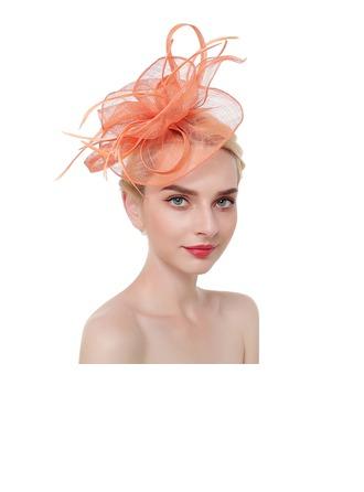 Damene ' Glamorøse/Klassisk stil/Elegant Cambric/Fjær med Fjær Fascinators