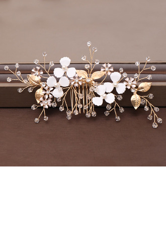 Ladies Romantic Rhinestone/Alloy/Pearls Combs & Barrettes (Sold in single piece)