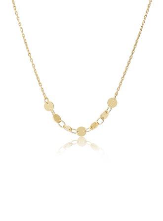 Julklappar Till Henne - 18 k guldpläterat silver Cirkel Hängsmycke Halsband