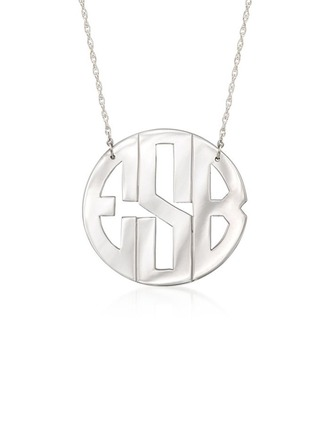 Personalized Silver Name Necklace Monogram Necklace