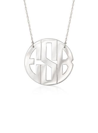 Personalizado Plata Collar con nombre Collar de monograma