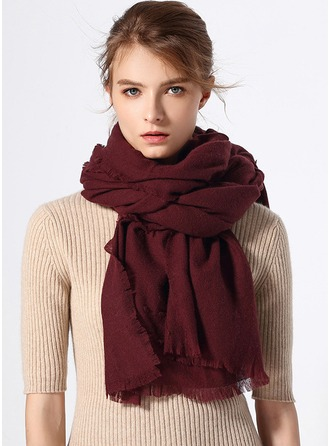 Solid Color Oversized/simple/Cold weather Wool Scarf