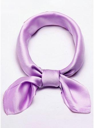 Solid färg Hals/Lättvikt/attraktiv Silke Fyrkantig halsduk