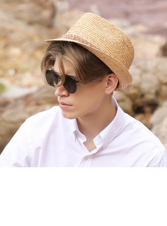 Hommes Style Classique/Simple Papyrus Chapeau Fedora/Panama
