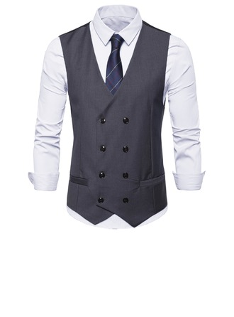 Modern Style Polyester Viscose Gilet Homme