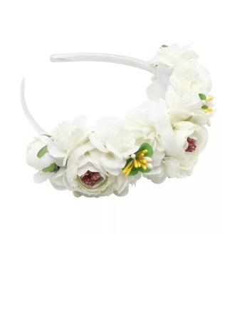 Hyvät/Lapset Kaunis Silkki kukka Kukka tyttöjen päähine/Liikuttunut (Myyty yhtenä palana)