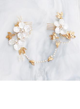 Dame Håndlavet Legering/Naturlig Shell Kamme & Hårspænder med Venetiansk Perle