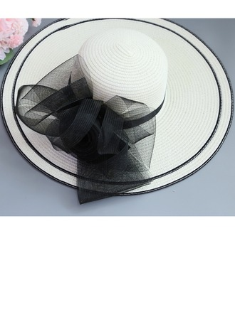 Ladies' Special/Elegant/Fancy Raffia Straw With Imitation Butterfly Beach/Sun Hats