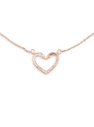 Silber Zirkonia Herz Herz Halskette Für Frauen Für die Freundin